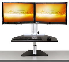 Ergo Desktop Wallaby Elite Dual Monitor Standing Desk front view