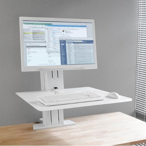 Ergotron WorkFit SR Single Monitor Sit Stand Workstation White High