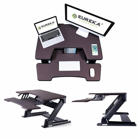 Eureka Ergonomic Standing Desk Converter 36 Bronze All Views