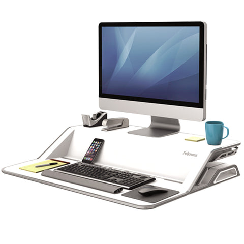 Fellowes Lotus White 3D View Compressed
