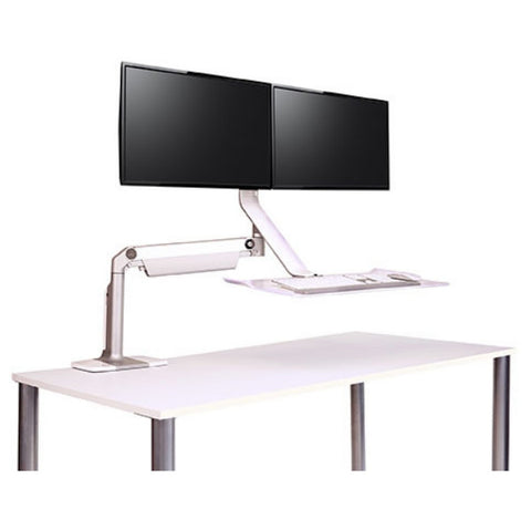 Humanscale Quickstand Lite - Floating Arm Standing Desk Converter