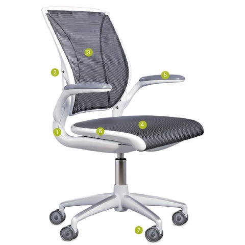 Humanscale Diffrient World Chair With Quick Ship Parts