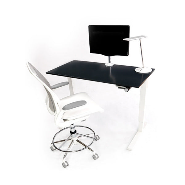 Humanscale Float Table on display with Chair and Monitor