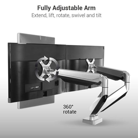 Loctek D7D Dual Monitor Adjustable Arm