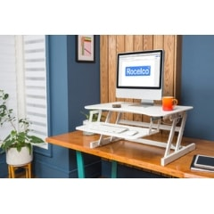 Rocelco EADR Ergonomic Adjustable Desk Riser 3D View Facing Left
