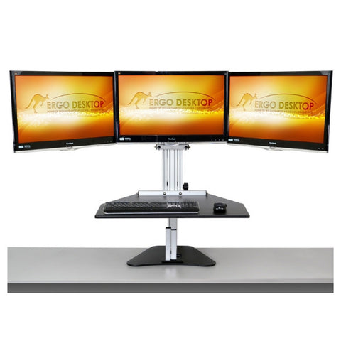 Three monitor standing desk converters collection