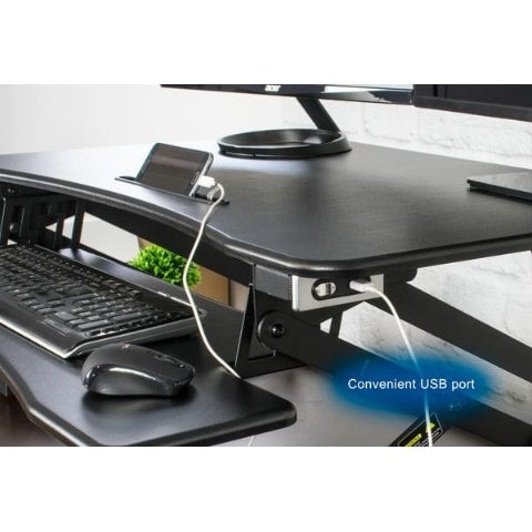 VIVO DESK-V000EB Electric Standing Desk Converter Usb Port