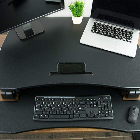 VIVO DESK-V000DB Deluxe Standing Desk Converter Top View Spacious