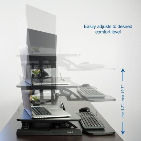 VIVO DESK-V000K Standing Desk Converter Height Setting