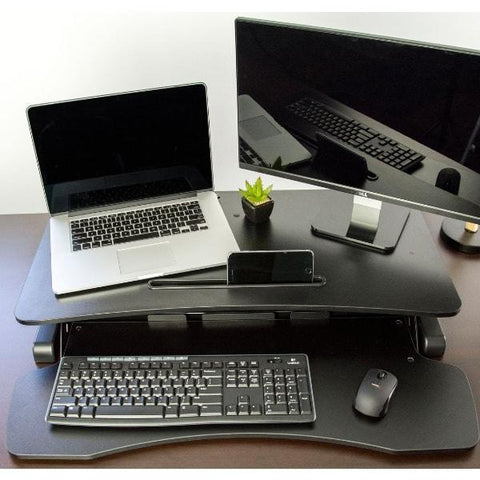 VIVO DESK-V000K Standing Desk Converter top view