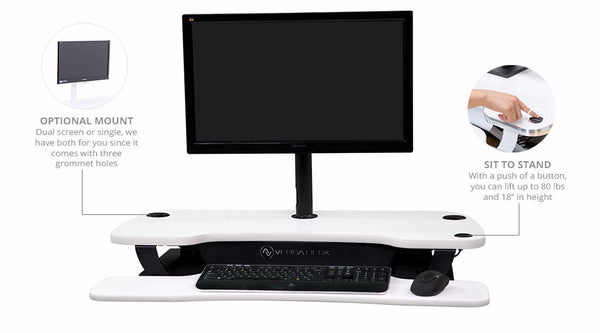 VersaDesk Power Pro controller and monitor arm options