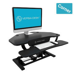 VersaDesk Power Pro Corner Electric Standing Desk Converter