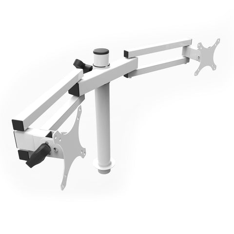 VersaDesk Universal Dual LCD Spider Monitor Arm White 3D VIew