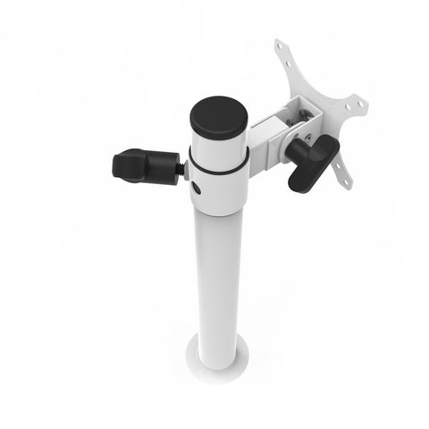 VersaDesk Universal Single LCD Monitor Arm White Top Back View