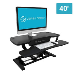 VersaDesk Power Pro 40 inch Standing Desk Converter with monitor