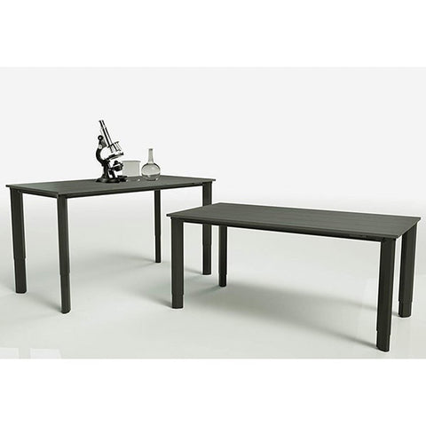 Vivistand Quattro Lab Edition Chemical Resistant Top 3D View And Side View