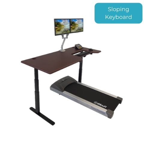 iMovR Lander Treadmill Desk with SteadyType Keyboard Tray
