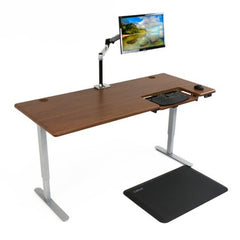 iMovR Cascade Standing Desk with SteadyType Keyboard facing right
