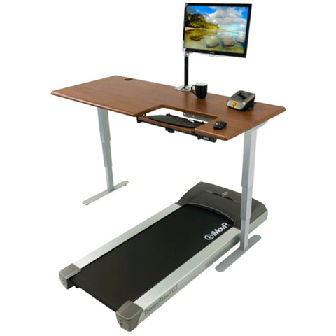 iMovR Cascade Treadmill Desk 3D View Single Monitor