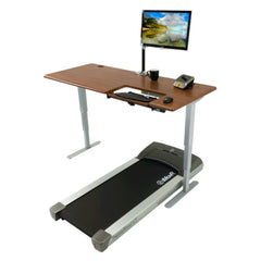 iMovR Cascade Treadmill Desk with SteadyType Keyboard Tray facing left