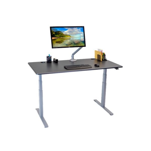 iMovR Lander Lite Standing Desk with single monitor