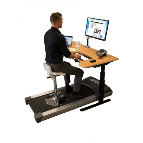 iMovR Tempo Sit-Stand Stool On Treadmill Desk