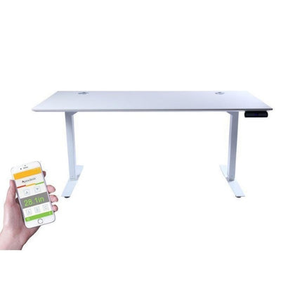ApexDesk Flex Pro Series 66 inch Standing Desk Top Front View White