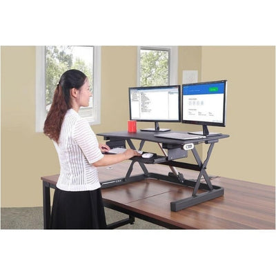 ApexDesk ZT Electric Desk Riser 3D View Standing