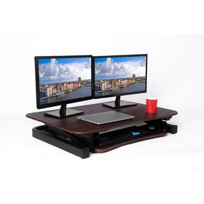 ApexDesk ZT Electric Desk Riser 3D View Walnut Compressed