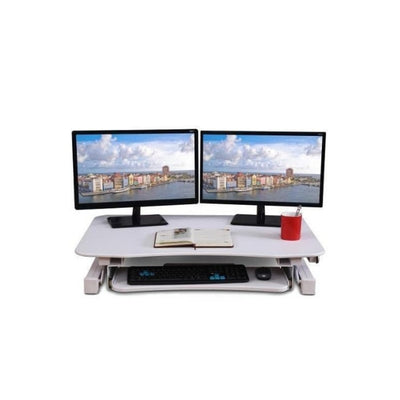 ApexDesk ZT Electric Desk Riser Front View White