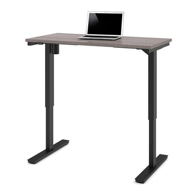 Bestar 24 x 48 Electric Table Bark Grey