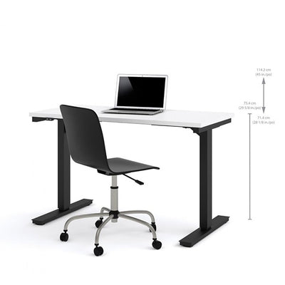 Bestar 24 x 48 Electric Table White Sitting Dimension