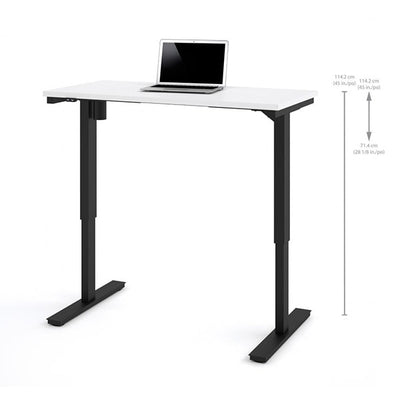 Bestar 24 x 48 Electric Table White Standing Dimension