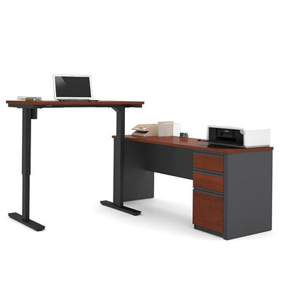 Bestar Prestige + L-Desk Bordeaux & Graphite