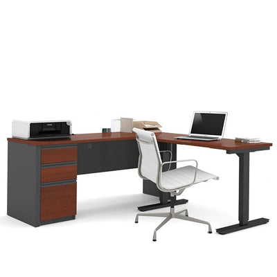 Bestar Prestige + L-Desk Bordeaux & Graphite Sitting