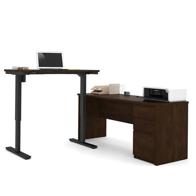 Bestar Prestige + L-Desk Chocolate