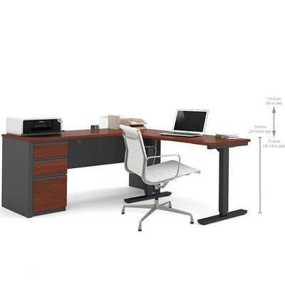 Bestar Prestige + L-Desk Dimension Sitting