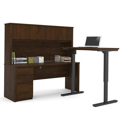 Bestar Prestige + L-Desk With Hutch Chocolate