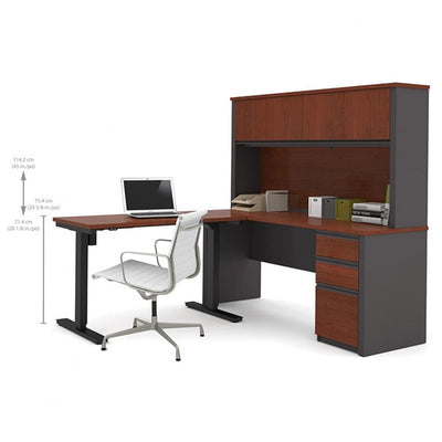 Bestar Prestige + L-Desk With Hutch Dimension Sitting
