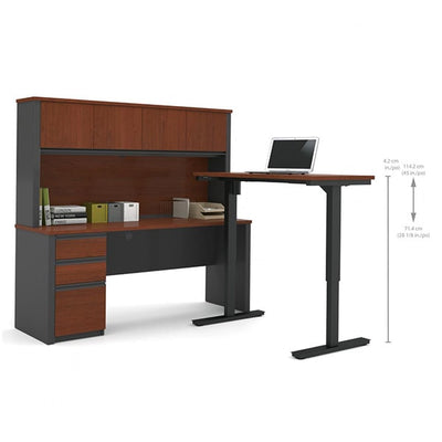 Bestar Prestige + L-Desk With Hutch Dimension Standing