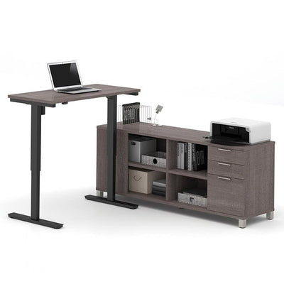 Bestar Pro-Linea L-Desk Bark Grey