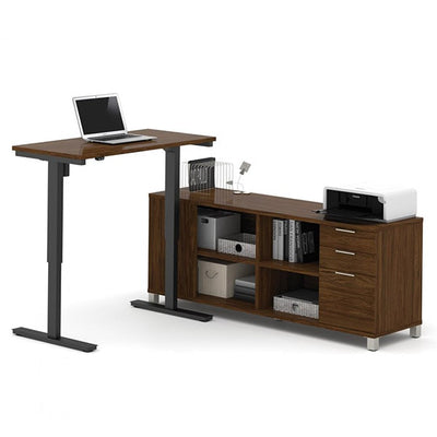 Bestar Pro-Linea L-Desk Oak Barrel
