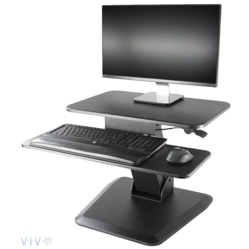 VIVO - Compact Height Adjustable Standing Desk Riser - Standing Desk Nation