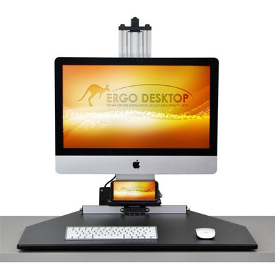 Ergo Desktop Electric MyMac Kangaroo Pro Front View Single Monitor