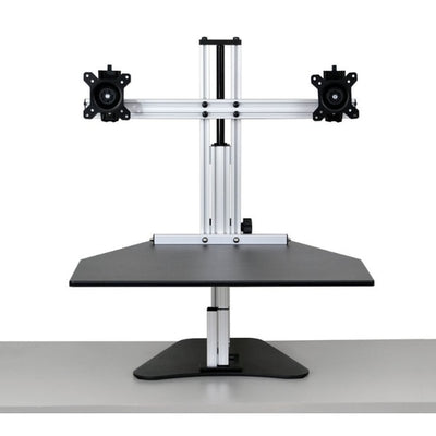 Ergo Desktop Wallaby Elite Standing Desk Converter Front View High