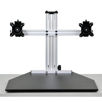 Ergo Desktop Wallaby Elite Standing Desk Converter Front View Low