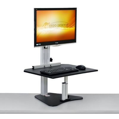 Ergo Desktop Wallaby Junior Standing Desk Converter 3D View Monitor High