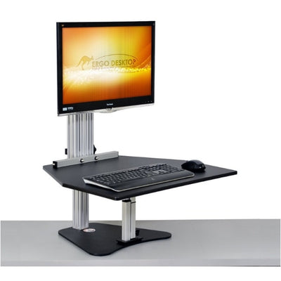 Ergo Desktop Wallaby Standing Desk Converter 3D View Monitor High