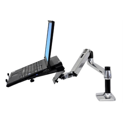 Ergotron LX Monitor Arm Side View Laptop Facing Left