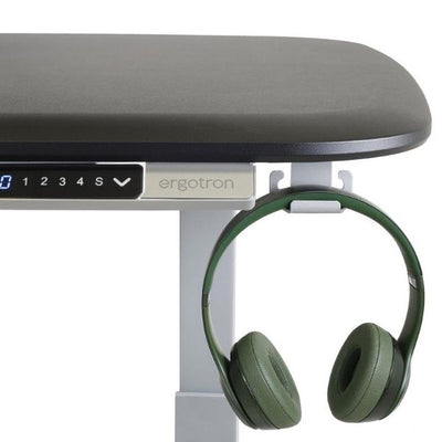 Ergotron WorkFit Electric 46 Inch Surface Hook With Headset